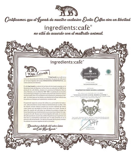 Certificado libertad del Luwak
