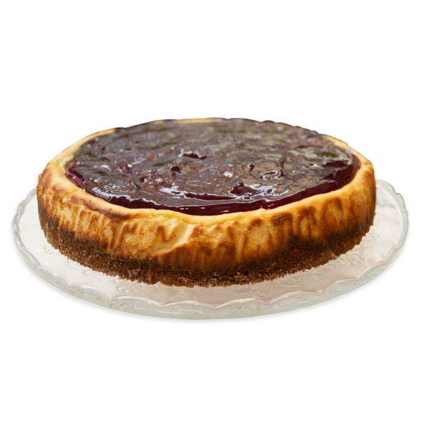 Tarta Cheescake con mermelada de frutos rojos
