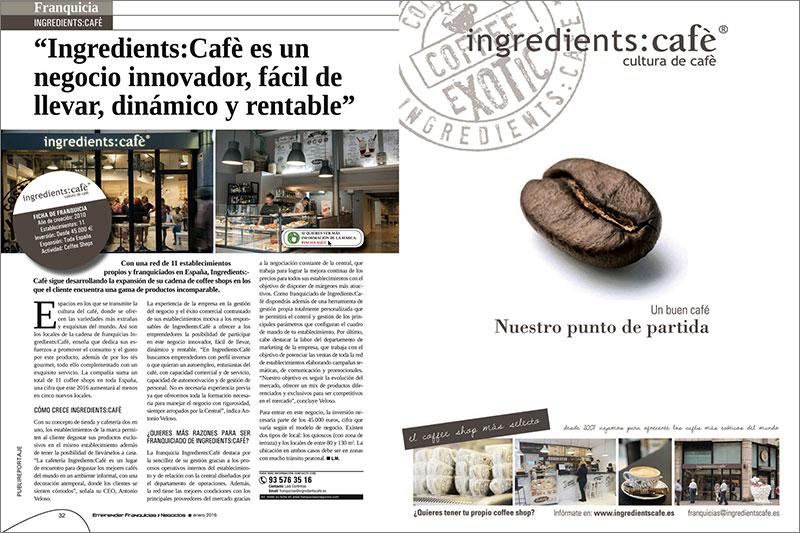 Coffee shops de Ingredients Café